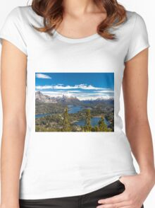 Lake Nahuel Huapi and mountains (Patagonia - Argentina) Women's Fitted Scoop T-Shirt