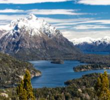 Lake Nahuel Huapi and mountains (Patagonia - Argentina) Sticker