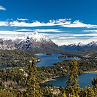 Lake Nahuel Huapi and mountains (Patagonia - Argentina) by Mathieu Longvert