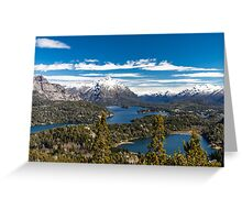 Lake Nahuel Huapi and mountains (Patagonia - Argentina) Greeting Card