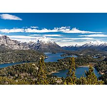 Lake Nahuel Huapi and mountains (Patagonia - Argentina) Photographic Print