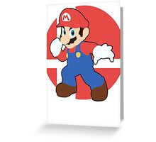 Mario - Super Smash Bros. For Wii U And 3DS Greeting Card
