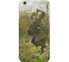 Frederick Walker 'Spring' 1864 watercolor iPhone Case/Skin