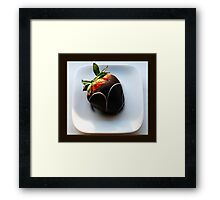 chocolate dipped Framed Print