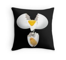 GIVE A CHICK A BREAK..EGG PILLOW AND OR TOTE BAG Throw Pillow