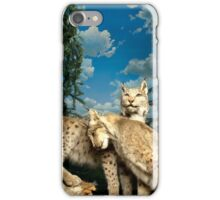Natural environment diorama - two leopards  iPhone Case/Skin
