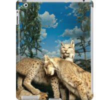 Natural environment diorama - two leopards  iPad Case/Skin