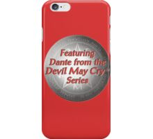 featuring dante from the devil may cry series iPhone Case/Skin