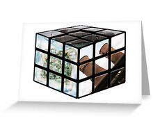 Sheffield Landmark Rubiks Cube Greeting Card