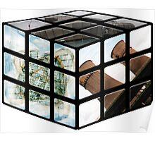 Sheffield Landmark Rubiks Cube Poster