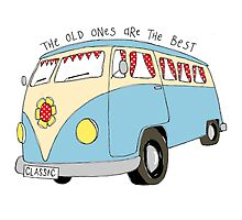 Campervan - the old ones are the best by Wendy Massey
