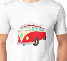 Campervan - the old ones are the best (red) Unisex T-Shirt
