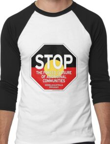 OFFICIAL MERCHANDISE - #SOSBLAKAUSTRALIA design 2 Men's Baseball ¾ T-Shirt