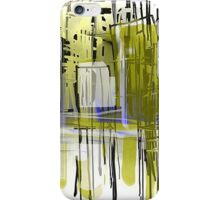 City in Gold and Blue iPhone Case/Skin