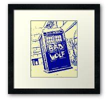 Bad Wolf - TARDIS  Framed Print