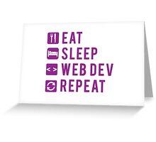 Eat Sleep Web Dev Repeat Purple Greeting Card