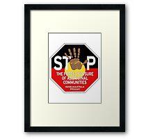 OFFICIAL MERCHANDISE - #SOSBLAKAUSTRALIA design 4 Framed Print