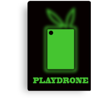 Playdrone with green field Canvas Print