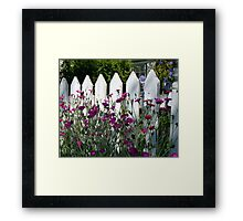 Old Fashioned Picket Fence Framed Print