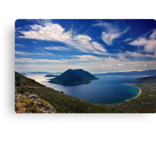 Ionian panorama from Xiromero Canvas Print