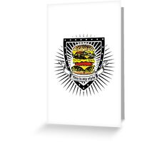 doubleburger shield Greeting Card