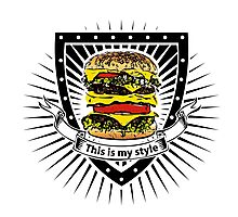 doubleburger shield Photographic Print