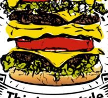 doubleburger shield Sticker