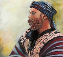 The Watcher Pastel portrait painting by sandysartstudio