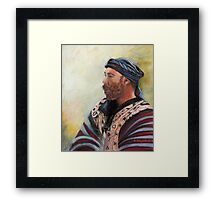The Watcher Pastel portrait painting Framed Print