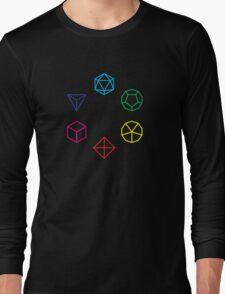 CMYK Rainbow Dice Geometry Long Sleeve T-Shirt