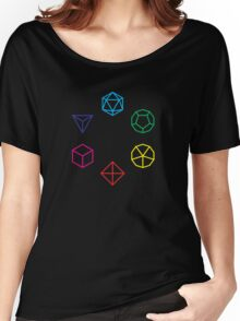 CMYK Rainbow Dice Geometry Women's Relaxed Fit T-Shirt