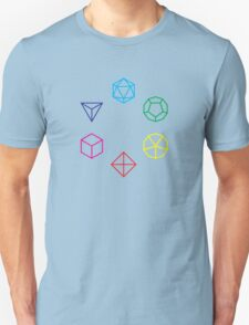 CMYK Rainbow Dice Geometry Unisex T-Shirt