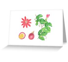 Red Passion Fruit Greeting Card