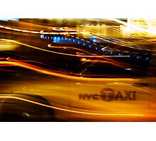 taxi nyc Photographic Print