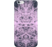 Pink psychedelic fairy forest creature on navy blue background iPhone Case/Skin
