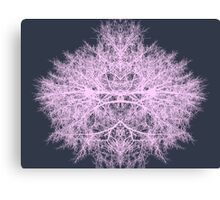 Pink psychedelic fairy forest creature on navy blue background Canvas Print