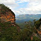 Leura Towards Mt Solitary - Blue Mountains NSW by Bev Woodman