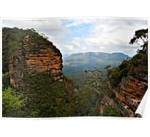Leura Towards Mt Solitary - Blue Mountains NSW Poster