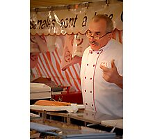 Market butcher Photographic Print