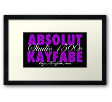 Beyond Kayfabe Podcast - Absolut Framed Print