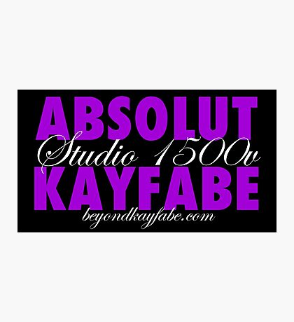Beyond Kayfabe Podcast - Absolut Photographic Print
