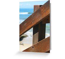 Timber rail Greeting Card