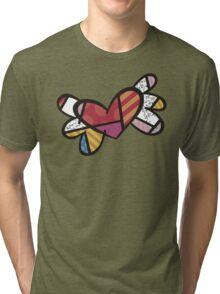 Romero Britto The Winged Heart Tri-blend T-Shirt