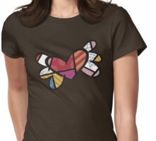 Romero Britto The Winged Heart Womens Fitted T-Shirt
