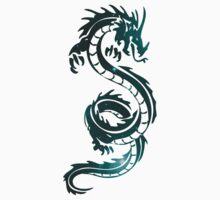 Burning Dragon - Blue Cloud Kids Tee