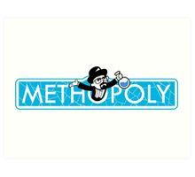 Tshirt Methopoly - Tshirt Heisenberg - Tshirt Blue Meth Art Print