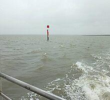 Channel Marker in Choppy Sea by EdsMum