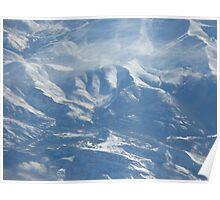 Cascade Mountains in March Poster
