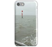 Channel Marker in Choppy Sea iPhone Case/Skin