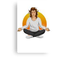Meditating Harry Canvas Print